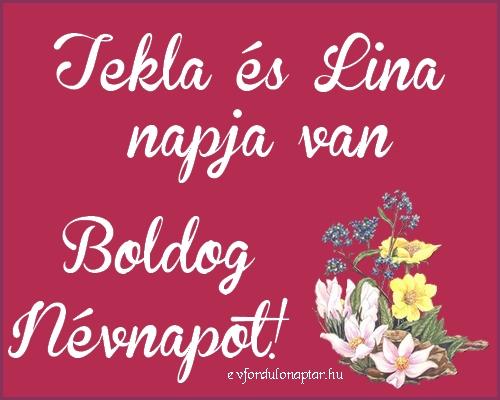 Szeptember 23 - Tekla, Lina névnap