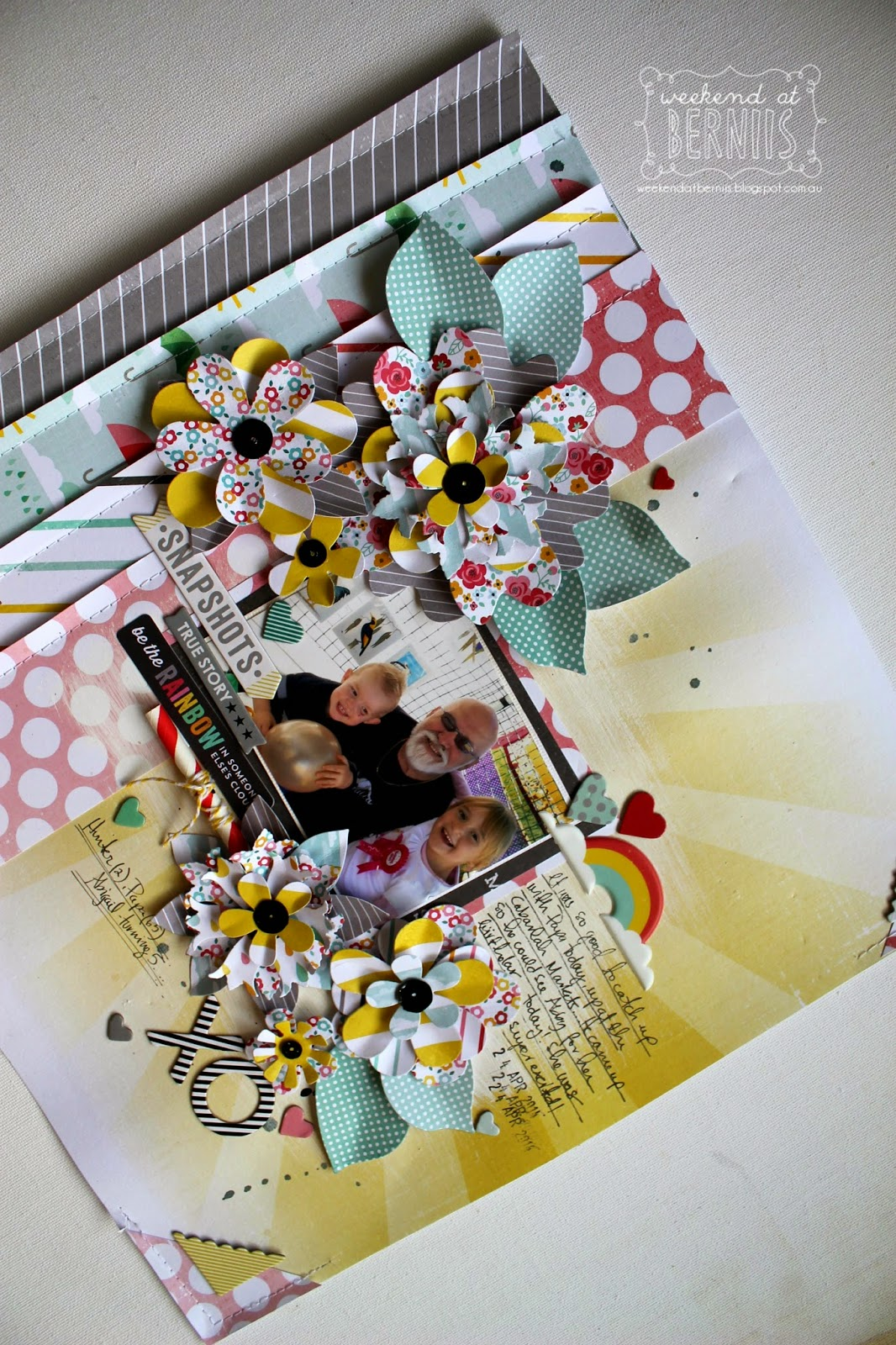 XO layout by Bernii Miller using the Hello Sunshine collection by Pink Paislee.