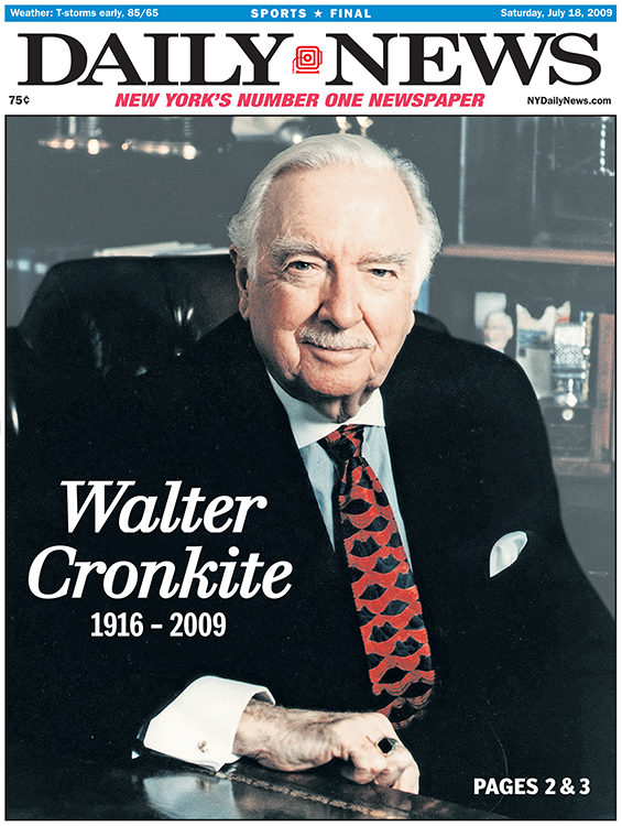 Image result for walter cronkite on his last newscast