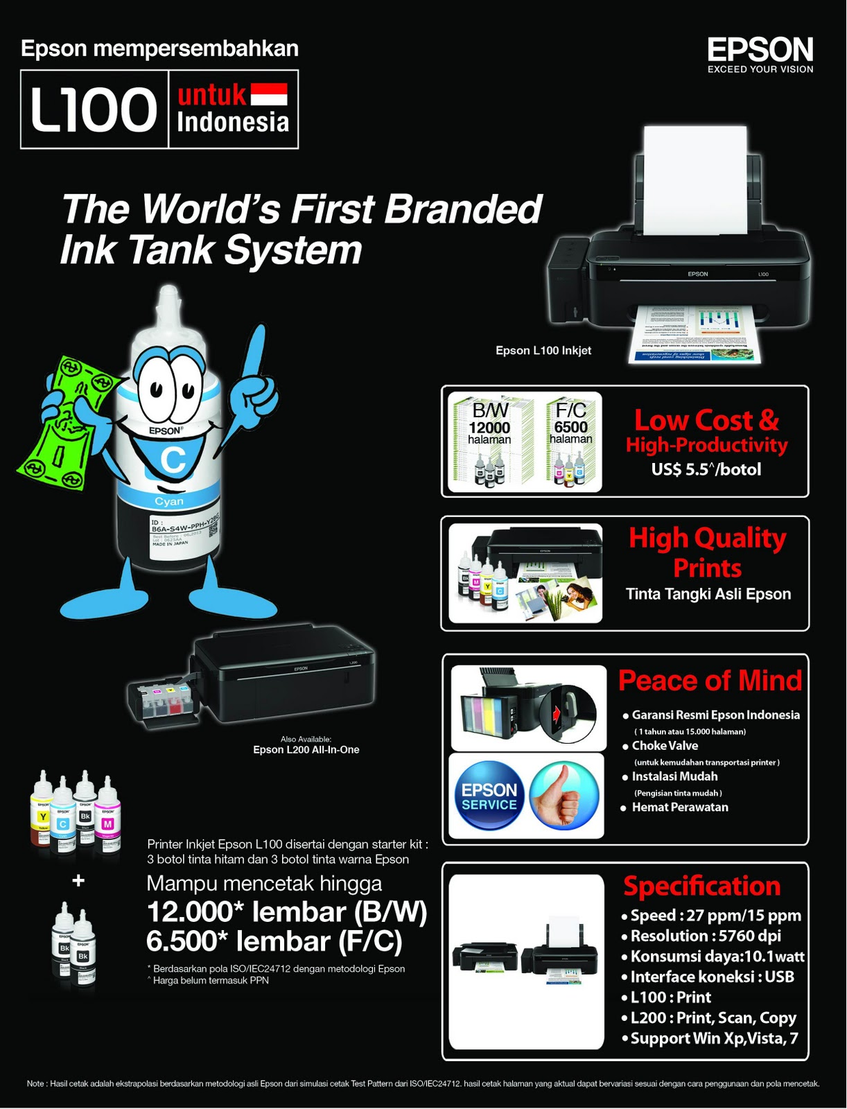 ABS-007 SHARE: Cara Reset Ink Level Epson L100, L200, Dan L800