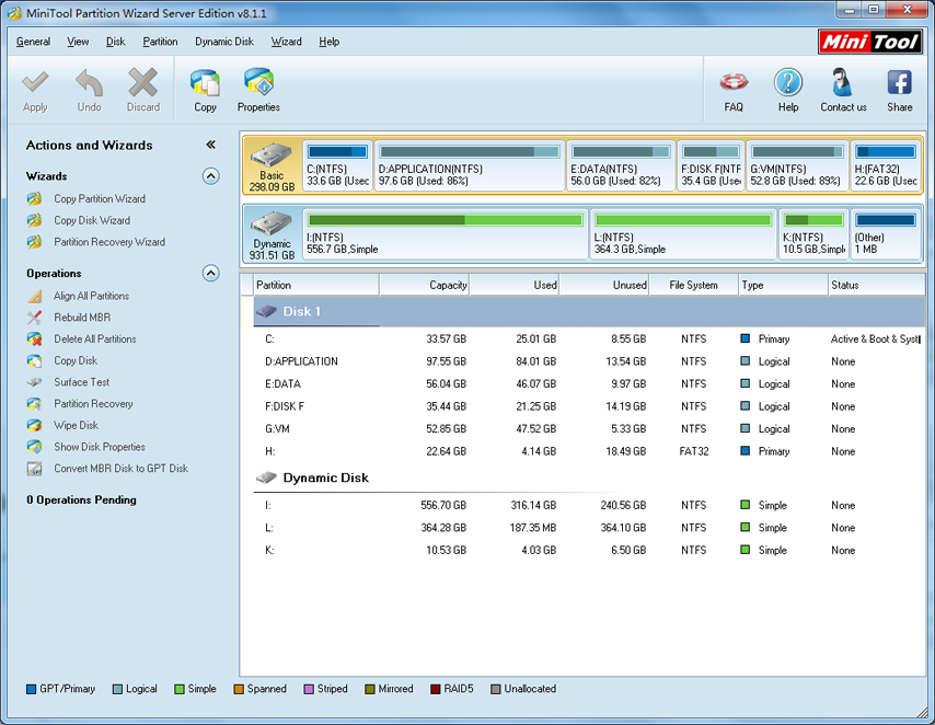 Download MiniTool Partition Wizard Home Edition free 8.1.1