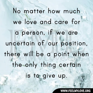 No matter how much we love and care