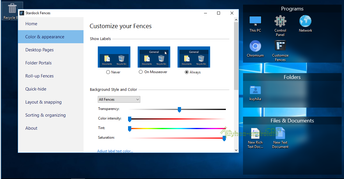 Stardock Fences full