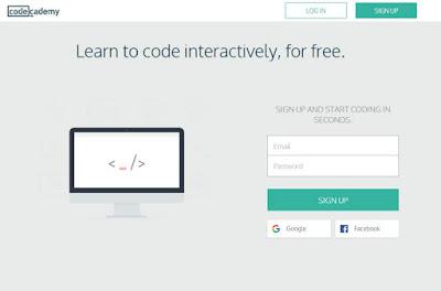 Tampilan Web Codecademy
