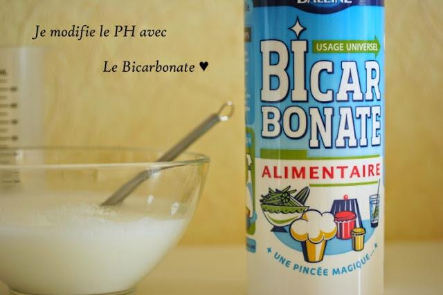 modifier le PH de ses cosmetiques maison crèmes soins bicarbonate de soude alcalin augmente le PH neutre 7