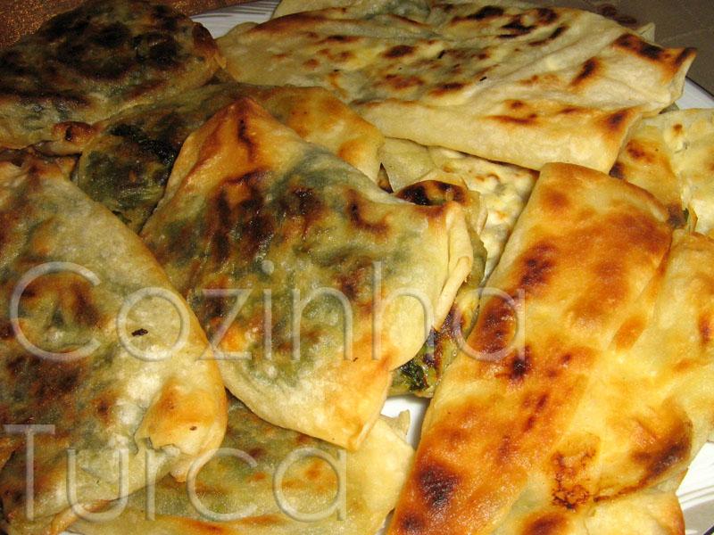 Crepes de Acelga (Pazılı Gözleme) e Crepes de Feta (Peynirli Gözleme)