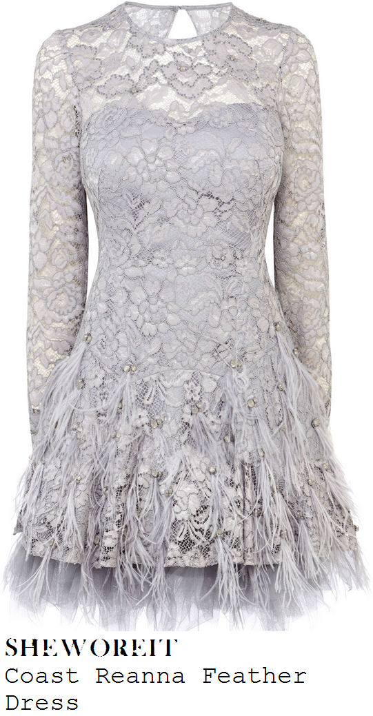 lydia-bright-grey-lace-long-sleeve-feather-jewel-embellished-dress-text-santa