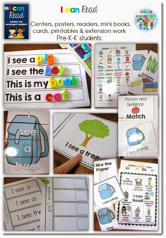 This pack is perfect with months and months of centers for Kindergarten and guided reading