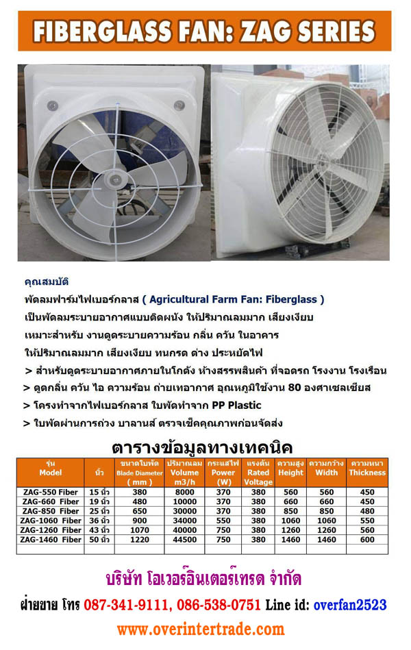 fiber glass farm fan