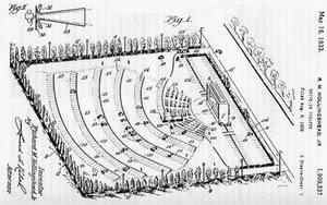 drive-in theatre theater hollingshead autocine patent patente