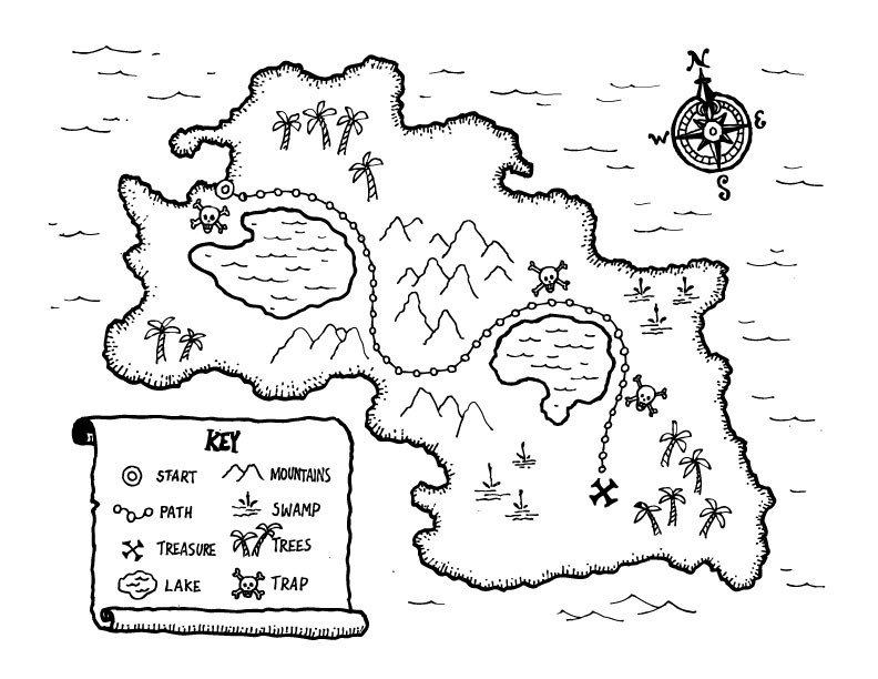 Kids Coloring Book On Pinterest Coloring Pages Fairy Treasure Map For Coloring