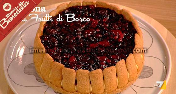 Cheesecake Corona di Pavesini ai Frutti di Bosco di Benedetta Parodi