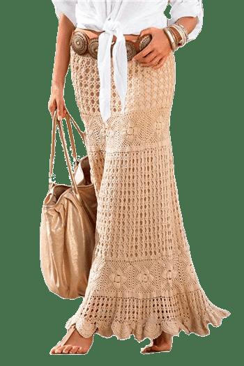 длинная юбка телесного цвета