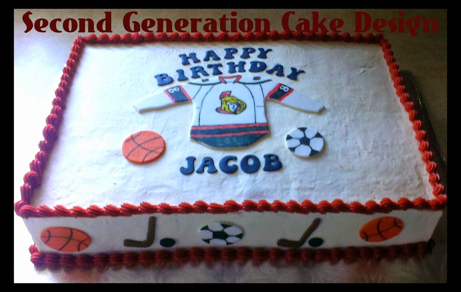 Second Generation Cake Design Sports Themed Birthday Cake