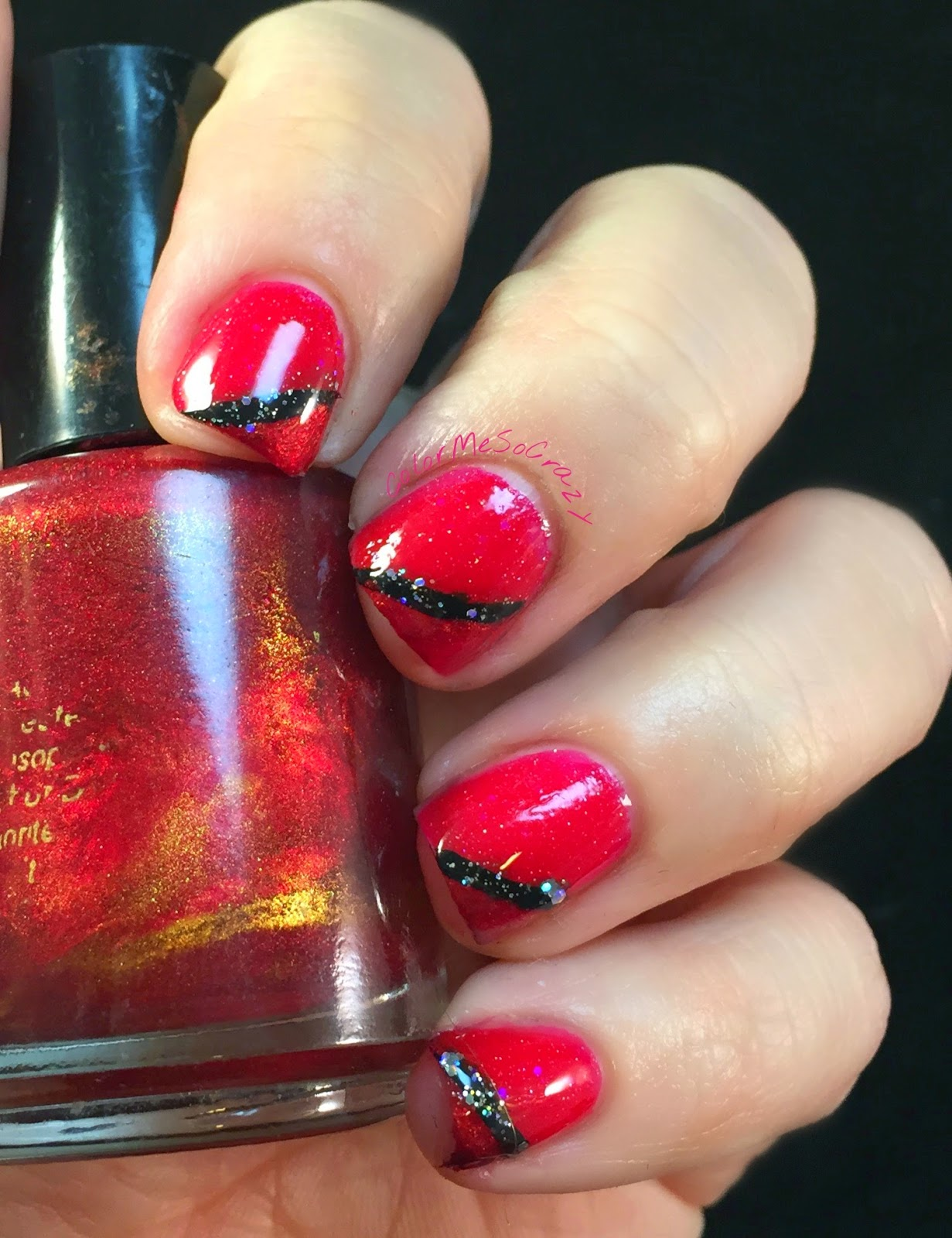 sation, pretty little liars, pretty little liars nails, nail pattern boldness, red coat tuesday, red coat tuesday nails