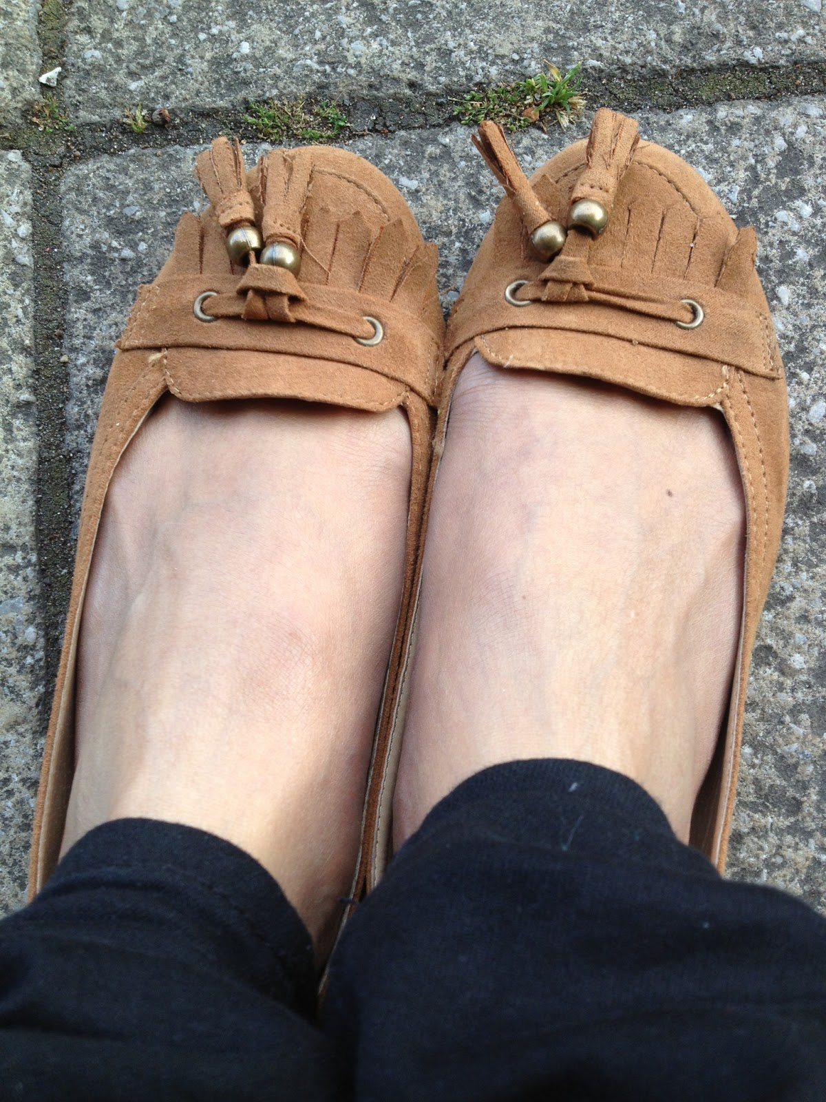 Brown Tassel loafer shoes from Primark