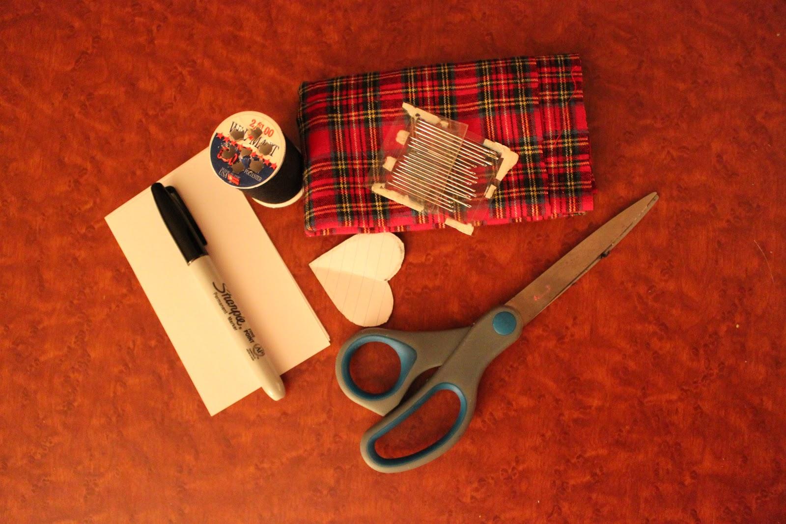 Rookie Crafter Flannel Heart Garland