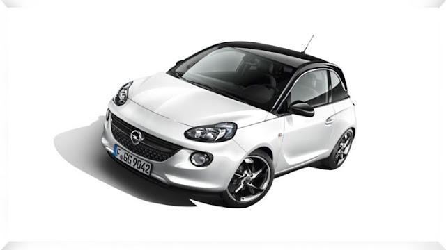 White Opel Adam