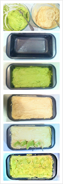Cherie Kelly's Matcha Green Tea Marble Cake