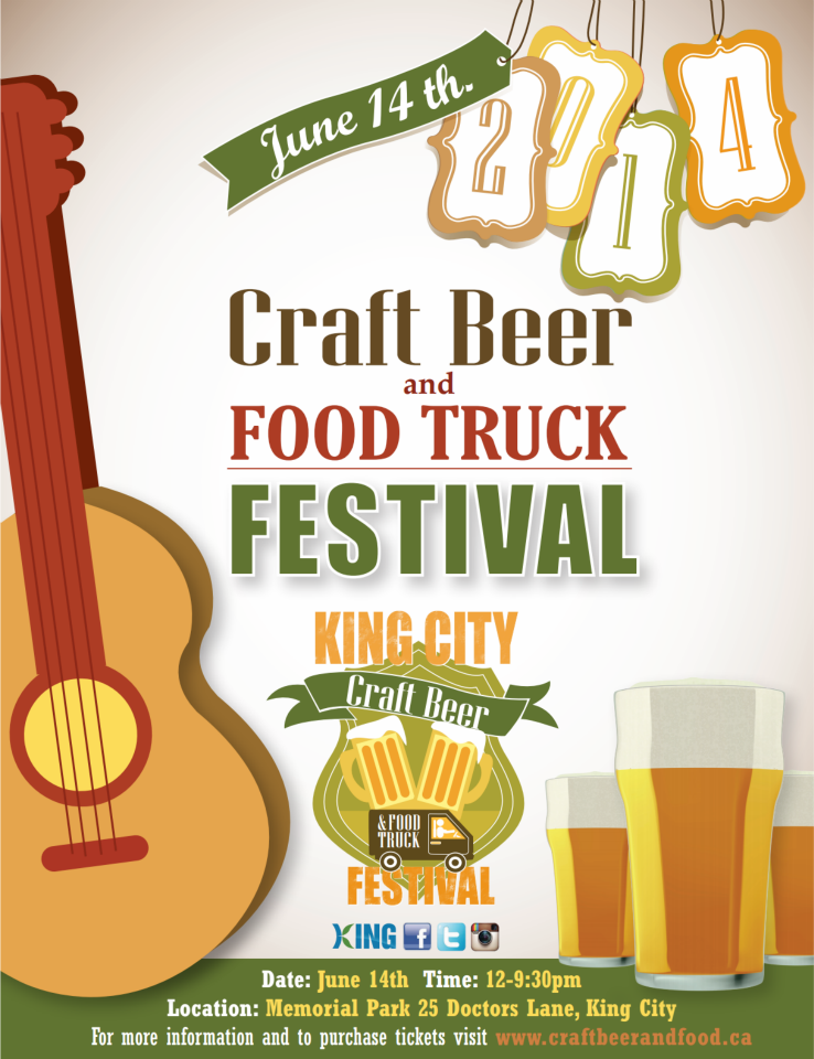 Contest closed win tickets to the king city craft beer for Food truck and craft beer festival