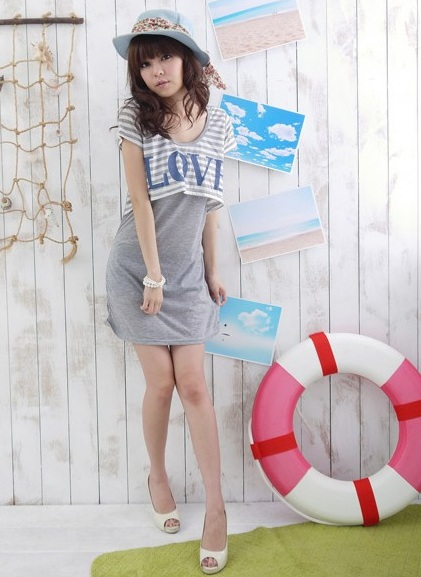 Love _3 Stripe Dress