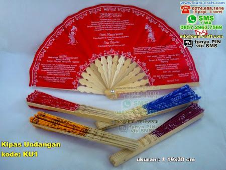 Kipas Undangan Bambu Kain