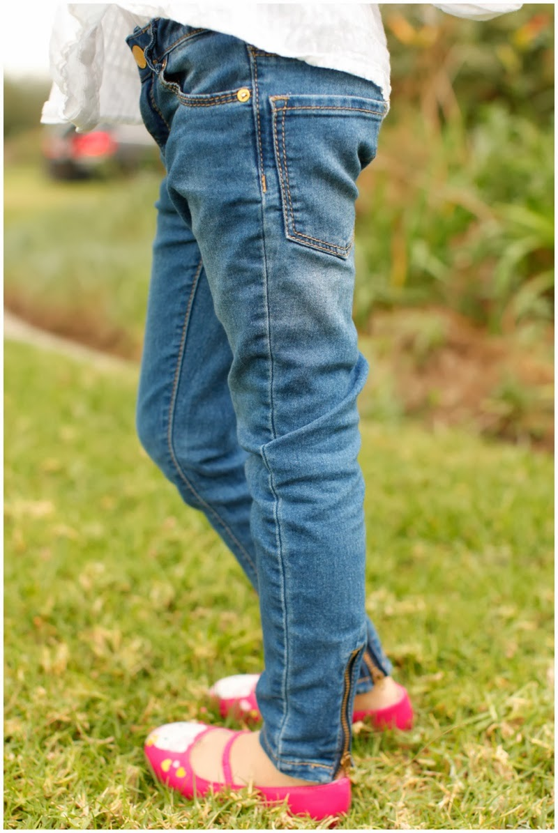 back zipper jeans