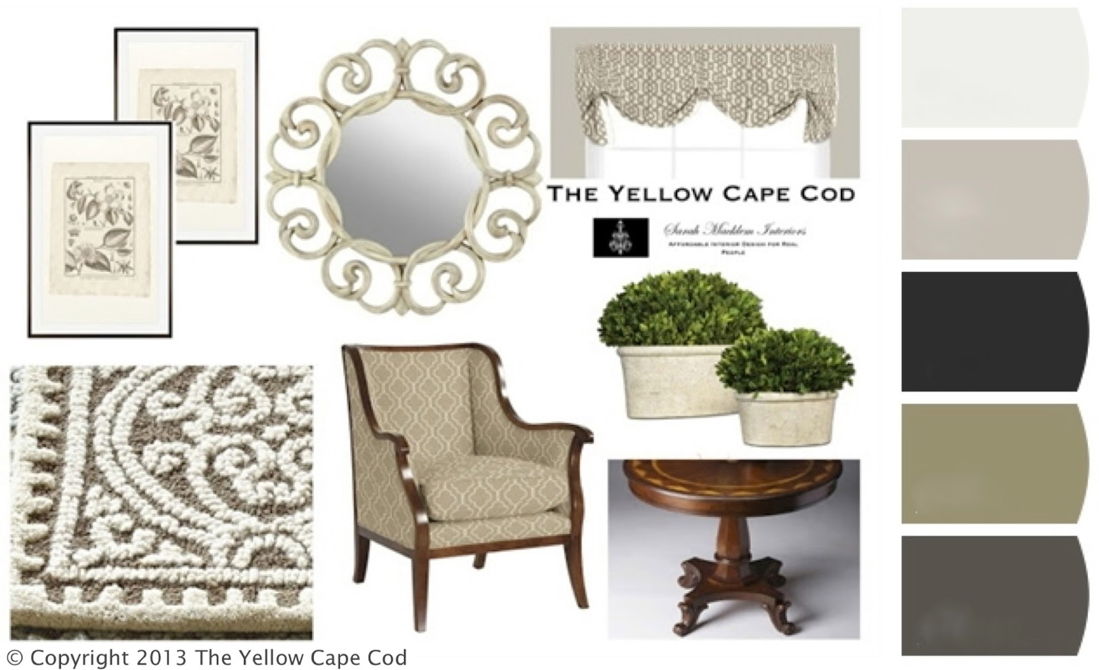 The Yellow Cape Cod: Understated Elegance~A Semi-Formal Foyer
