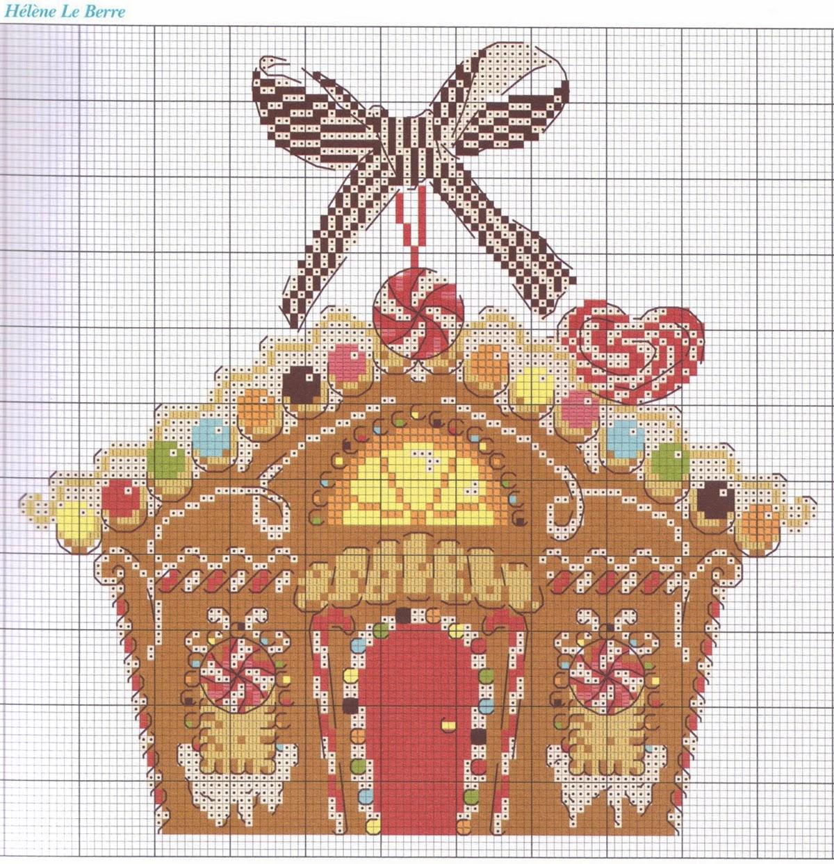 Имбирный дом схема вышивки 25