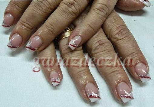Valentines French Manicure