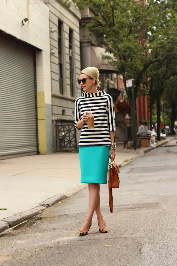 atlantic pacific stripes teal skirt leopard coach willis