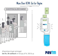 Recharge & Bill Payment Rs. 30 cashback on Rs.300 at Paytm