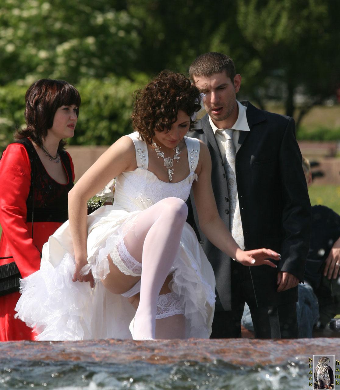 Bridal upskirt