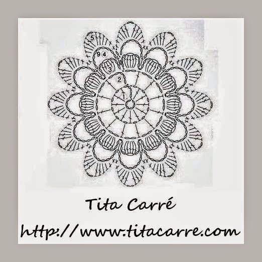 Motivo Floral em crochet e ideia para crochetar