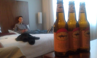 relaxing with Dogfish Head beer