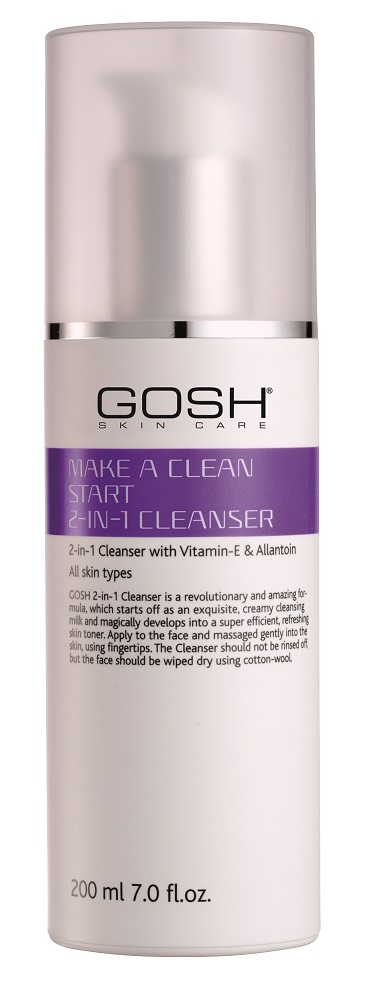 Gosh Make a clean start 2-in-1 cleanser