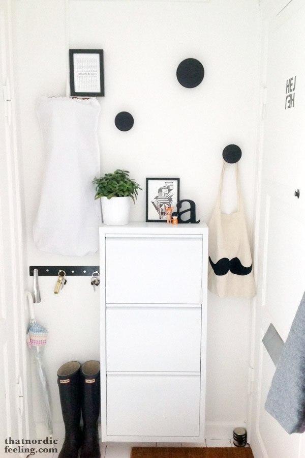 Ideas para decorar un recibidor pequeño en blanco y negro