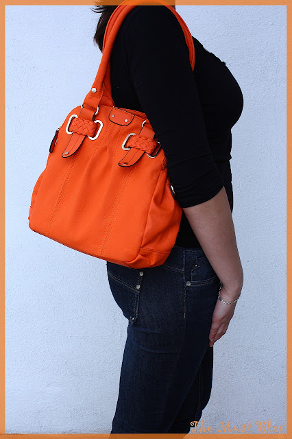 big orange purse