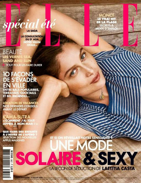 Actress, Model @ Laetitia Casta - Elle France, July 2015