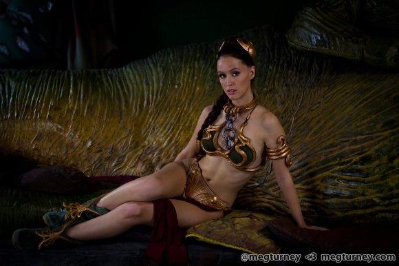 meg turney cosplay star wars princesa leia escrava