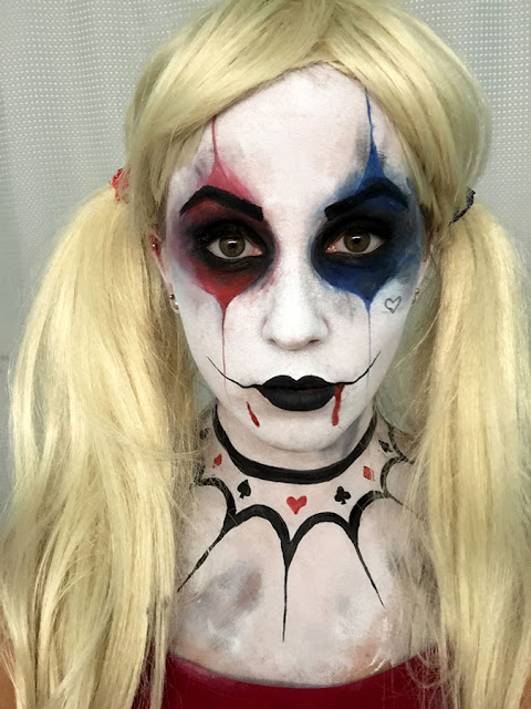 Harley Quinn Face Paint Suicide Squad