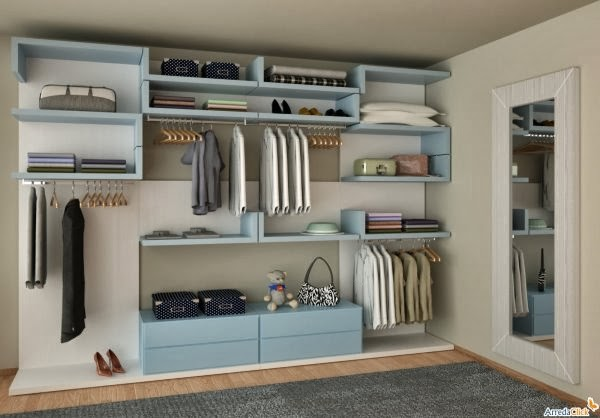 10 fotos de vestidores colores en casa for Walking closet modelo