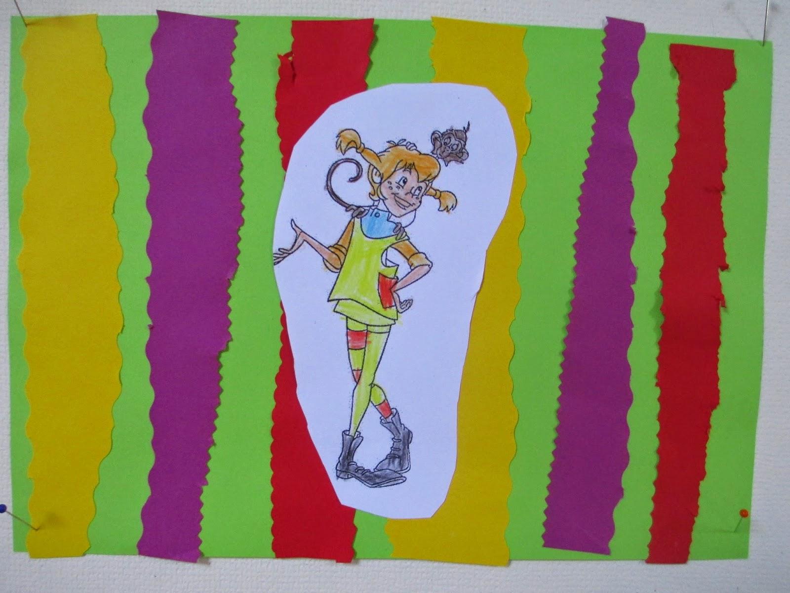 Pippi Langstrumpf Bild im Kindergarten