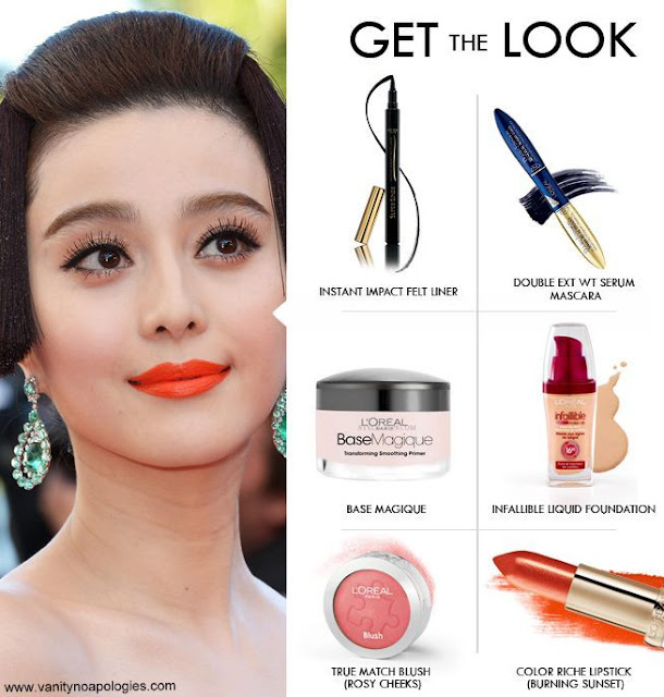 fan bingbing makeup breakdown cannes
