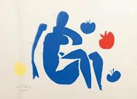 Henri Matisse| Nu bleu aux pommes | découpage