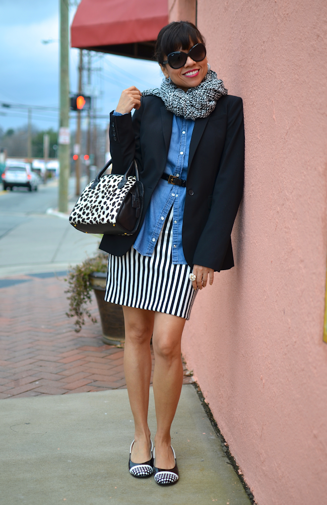 Black and White With Chambray