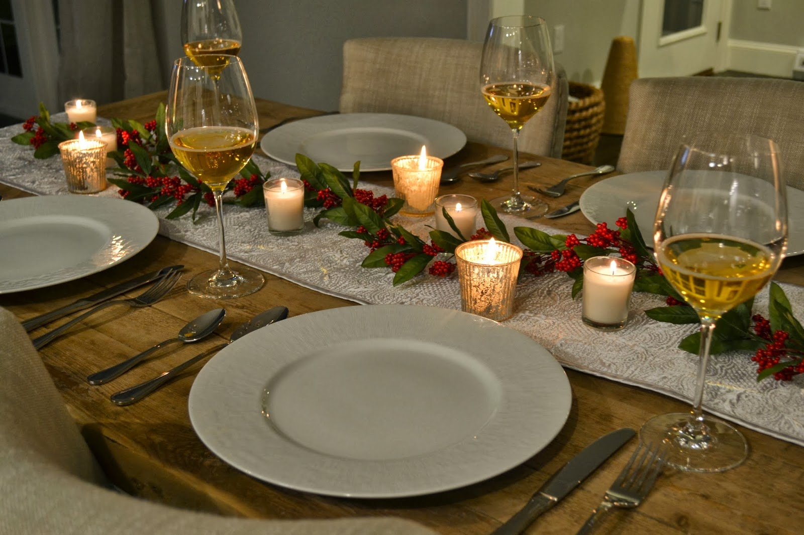 ... it would be a nice table setting! It was very romantic especially when I dimmed the lights. I will definitely re-create this again! & all sorts of Ricci: A Romantic Holiday Table