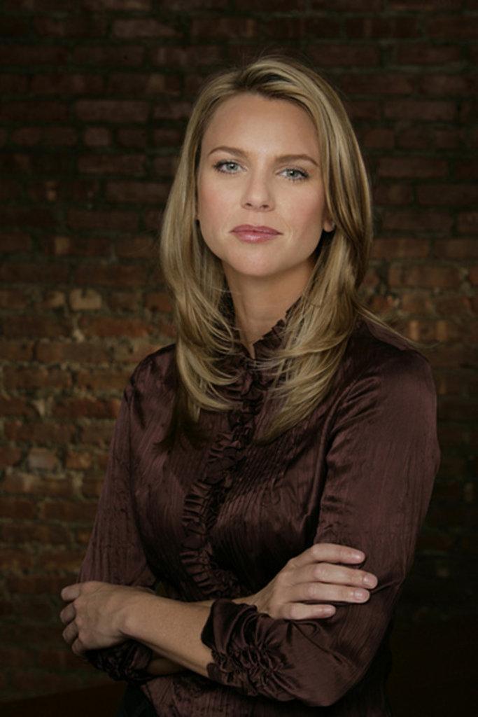 Lara logan brown satin blouse