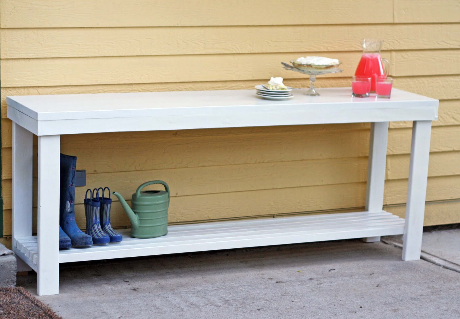 Running With Scissors: Outdoor Console Table