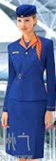 Uniforme Azul Com Gola Laranja e Quepe